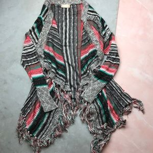 3/$30 Altar'd State Striped Fringed Cardigan 13
